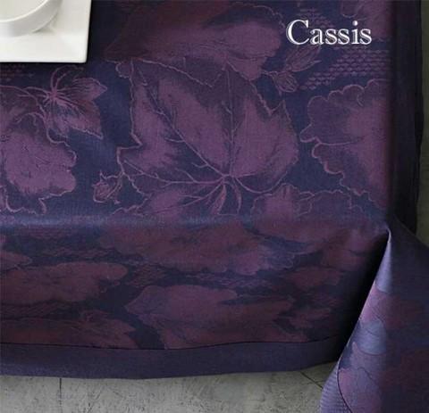 Скатерть 170x240 и 8 салфеток Blanc des Vosges Flora cassis
