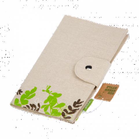 Блокнот, Lejoys, Flower, 155Х227, хлопок-лен