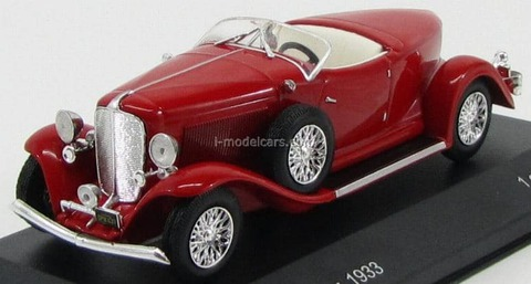 Auburn Boat Tail Roadster 1933 red WhiteBox 1:43