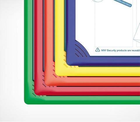 Рамка для перекидной системы INFOFRAME A4, красный