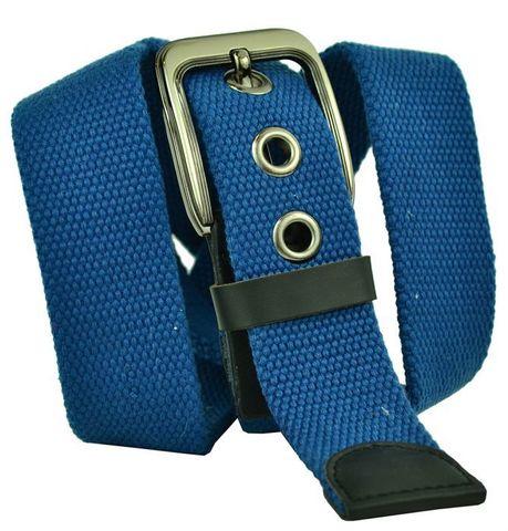 Прочный текстильный джинсовый мужской ремень синий из стропы 4 см 40Stropa-060