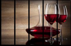 "Модульная картина ""Красное вино"""