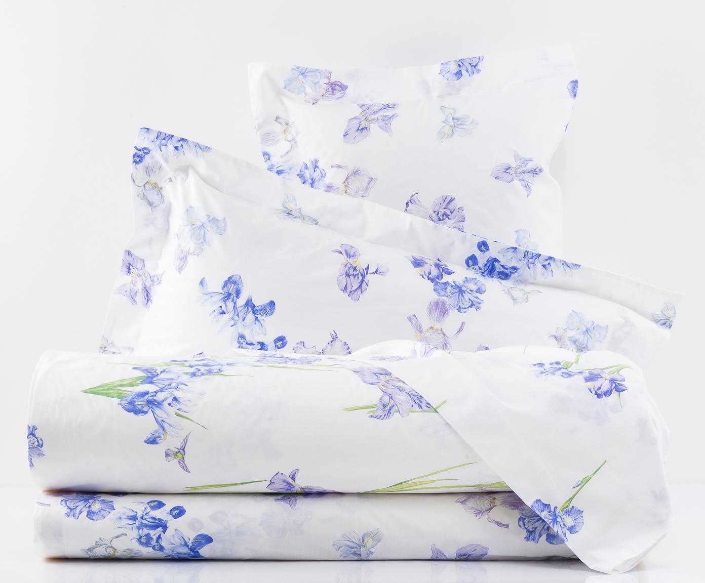 Постельное Постельное белье семейное Mirabello Iris-1 белое postelnoe-belie-mirabello-iris-1-beloe-italiya.jpg