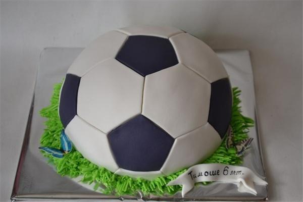Торты в виде футбольного мяча фото