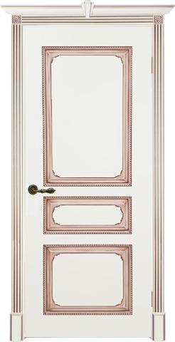 Дверь Prestigio Версаль-5, цвет слоновая кость/патина орех, глухая