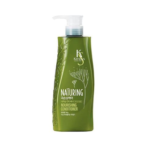 Кондиционер для ломких и поврежденных волос Питание с морскими водорослями и оливковым маслом  KeraSys Hair Clinic System Naturing Nourishing Conditioner 500мл