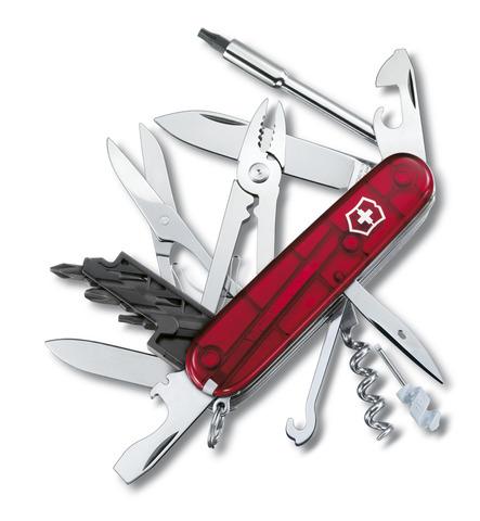 Нож Victorinox CyberTool, 91 мм, 34 функции, полупрозрачный красный