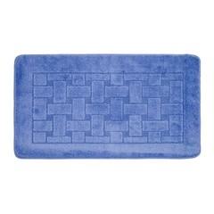 Коврик для ванной BANYOLIN 60х100 см ворс, темно-голубой