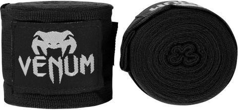 Бинты для бокса Venum Kontact 4m - Black