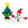 Nanoblock снеговик и елка