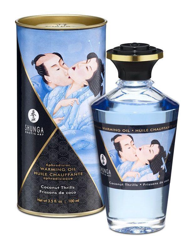 Массажные масла и свечи: Массажное интимное масло с ароматом кокоса - 100 мл.