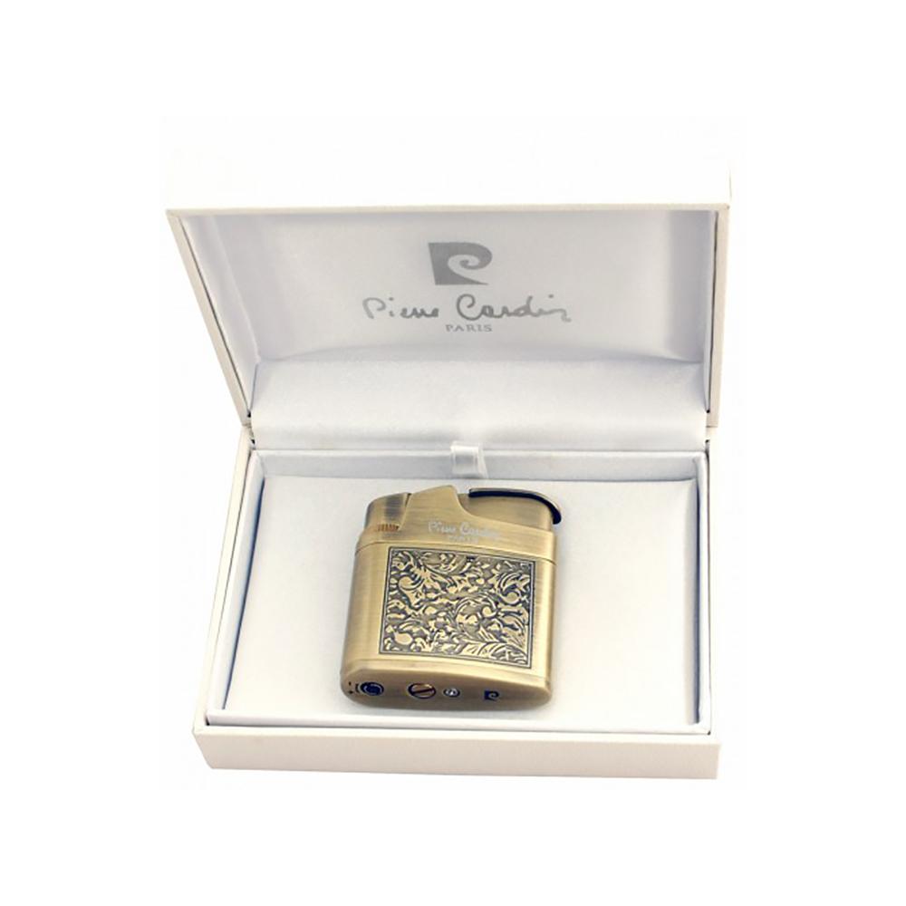 Зажигалка Pierre Cardin кремниевая газовая, цвет бронза с гравировкой, 4,5х1,5х5,1см