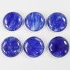 Кабошон круглый Арбузный камень синий (искусств, тониров), 26 мм (-10% ПУЗЫРЬКИ ИЛИ МАЛОЗАМЕТНЫЕ ЦАРАПИНКИ)