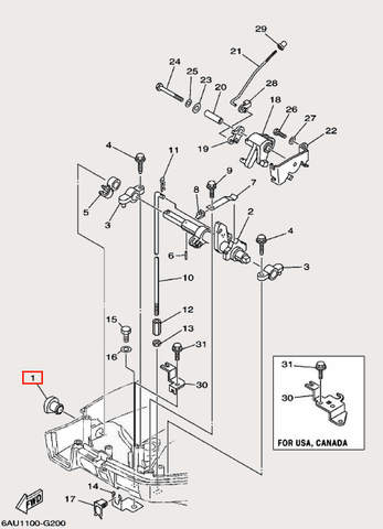 Заглушка для лодочного мотора F9,9 Sea-PRO (19-1)