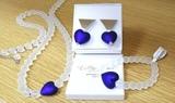 Комплект Cuori Metallo Dark Sapfir  (серьги, ожерелье, браслет)