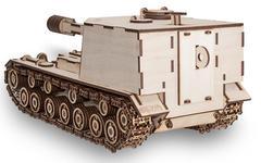 Конструктор деревянный 3D EWA Танк САУ-212