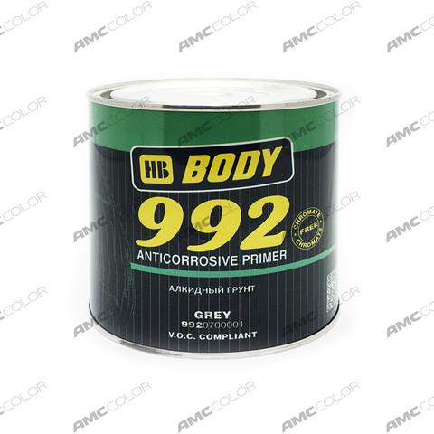 Грунт Body антикоррозион. 992 серый  1кг