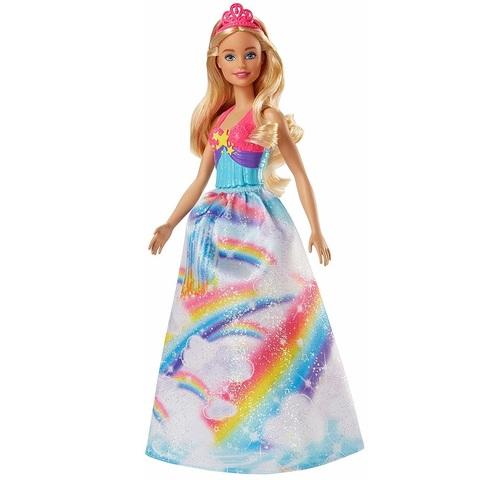 Барби Дримтопия Принцесса в Радужном Пышном Платье