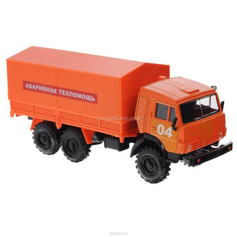 KAMAZ-4310 Emergency Technical Assistance orange 1:43 Technopark