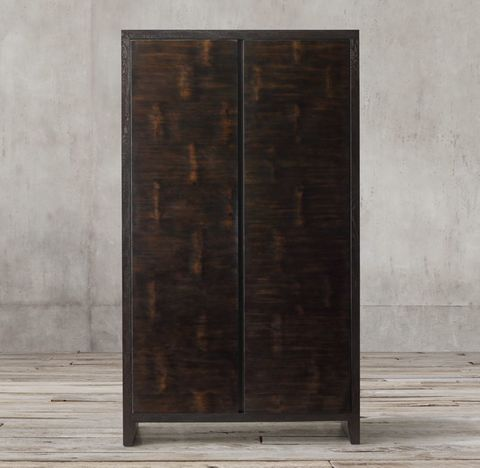 Wyeth Split Bamboo Panel Cabinet