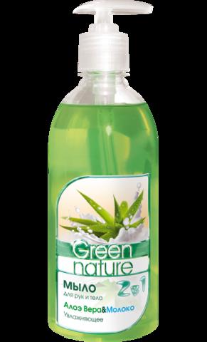 Floralis Green Nature Мыло для рук и тела 2в1 Алоэ Вера & Молоко 500г