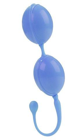 Голубые каплевидные вагинальные шарики L amour Premium Weighted Pleasure System