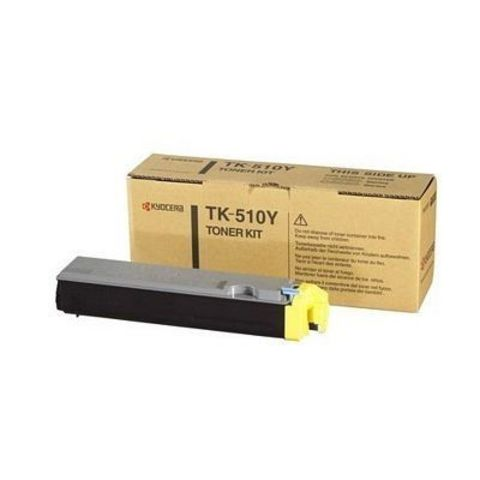 Kyocera TK-520Y - Тонер-картридж для принтеров Kyocera FS-C5015N. Ресурс 4000 страниц.