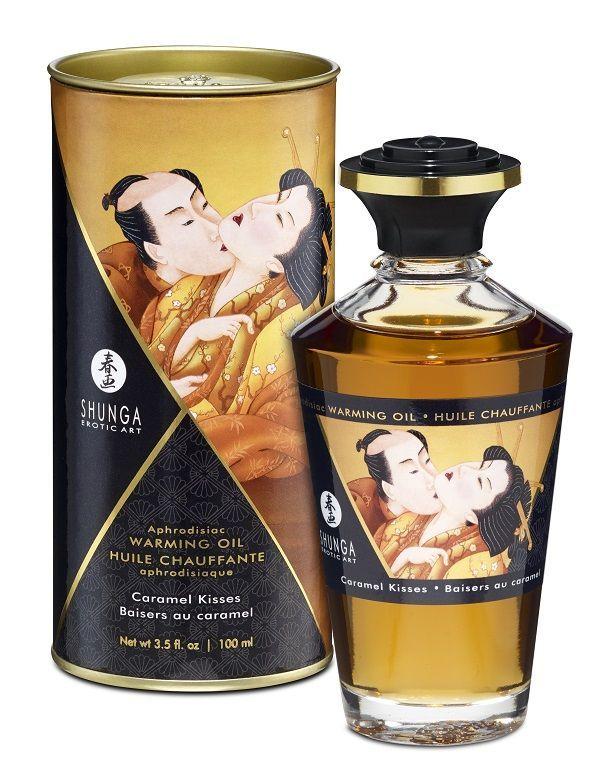 Массажные масла и свечи: Массажное интимное масло с ароматом карамели - 100 мл.