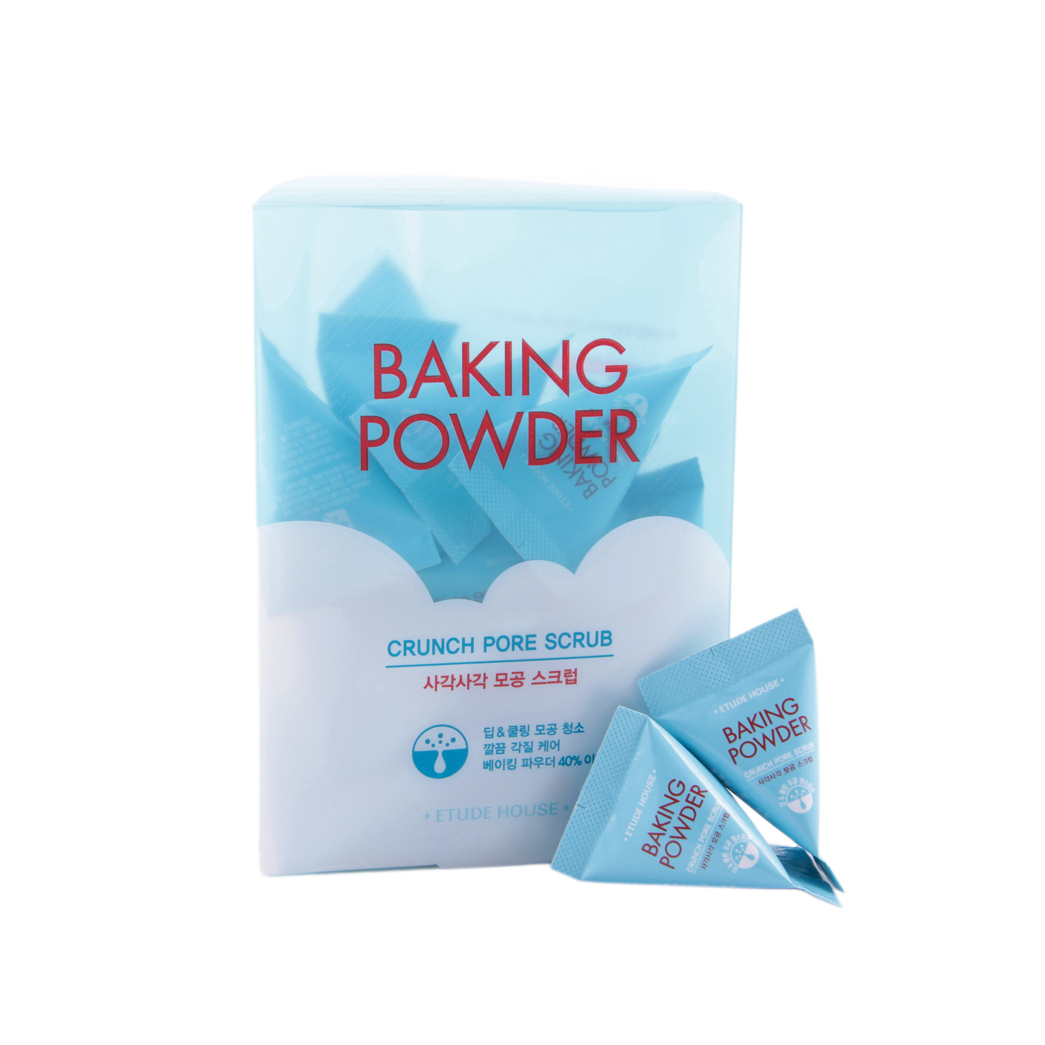 Скраб для лица с содой в пирамидках Etude House Baking Powder Crunch Pore Scrub (упаковка)