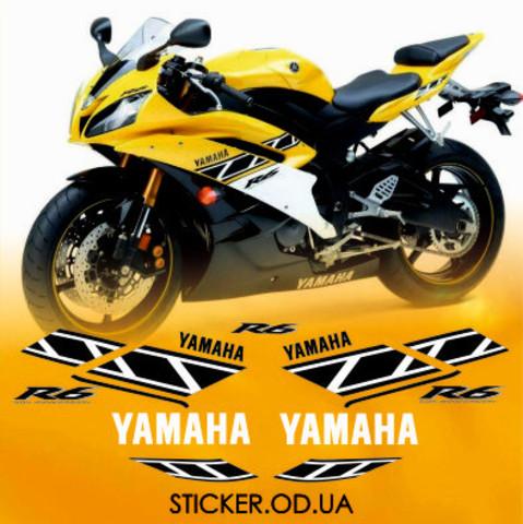 Набор виниловых наклеек на мотоцикл YAMAHA YZF-R6 2006