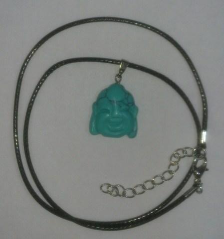 Подвеска на шнурке Голова Будды, натуральный камень