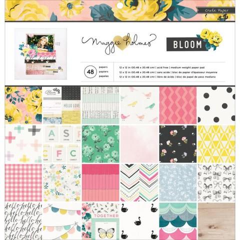 Набор односторонней бумаги Bloom Collection by Maggie Holmes 30х30см