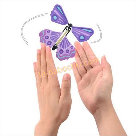 бабочка вылетает