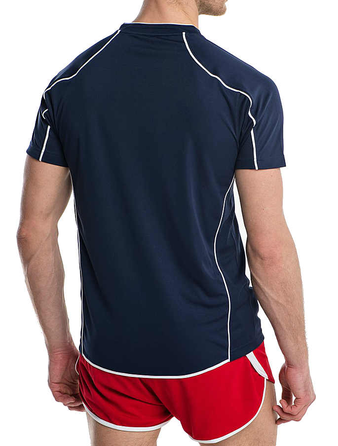 Мужская волейбольная футболка асикс T-shirt Volo (T604Z1 5001) темно-синяя фото