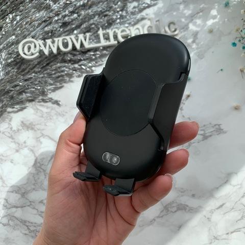 Автомобильный держатель с беспроводной зарядкой C10 Fast /black/