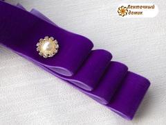 Лента Бархатная фиолетовая 38 мм
