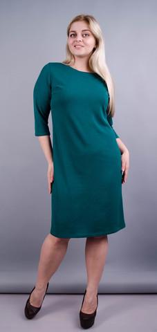 Арина креп. Базовое платье больших размеров. Бутылка.