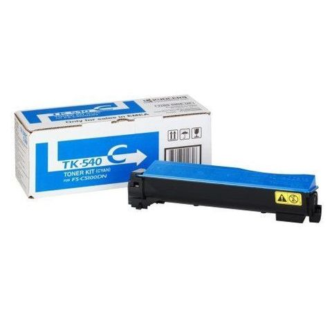Kyocera TK-540C - Тонер-картридж для принтеров Kyocera FS-C5100N. Ресурс 4000 страниц.