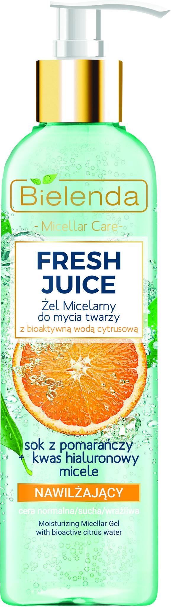 FRESH JUICE Увлажняющий мицеллярный гель для умывания лица, Апельсин, 190 г