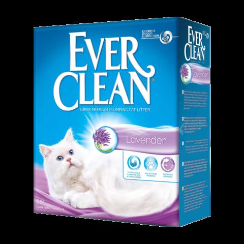 Ever Clean Lavender Наполнитель для туалета кошек с ароматом лаванды комкующийся (сиреневая полоска)