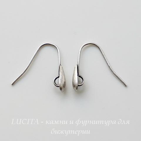 """Винтажные швензы крючки """"Капелька"""" 16 мм (оксид серебра) ()"""