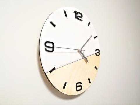 Часы настенные в скандинавском стиле