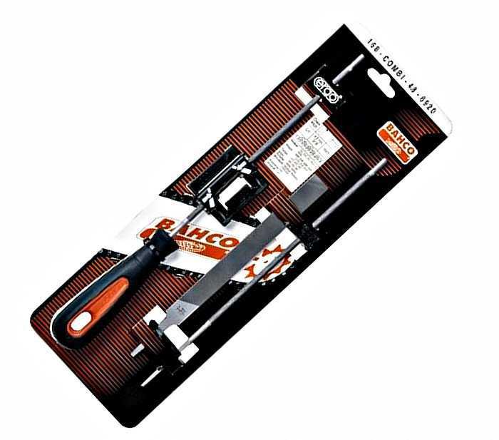 Набор для заточки цепей 4,8мм Bahco 168-COMBI-4.8-6920