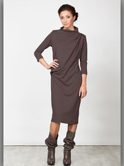 P2051-6 платье коричневое