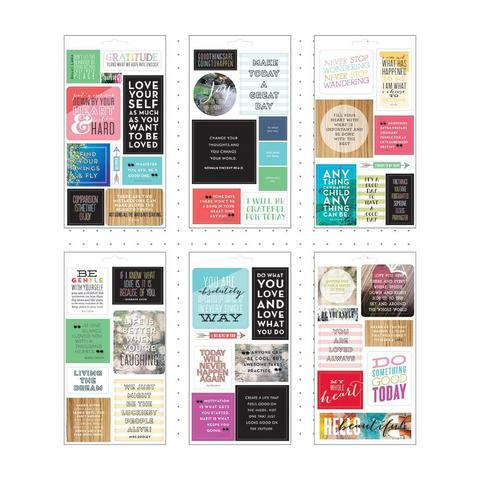 Блокнот со стикерами - Create 365 Planner Stickers- Love Yourself- 12х23см/6л