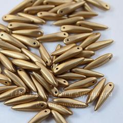 Бусина Thorn Шип, 17х4 мм, золотая матовая