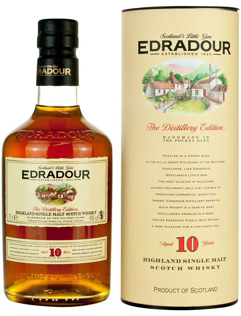 Edradour 10 Years картон