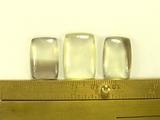 Комплект кабошонов раухцитрина 20x13x4 мм - 2 шт., 22x15x4 мм - 1 шт.