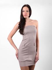 6170-3 платье женское серое