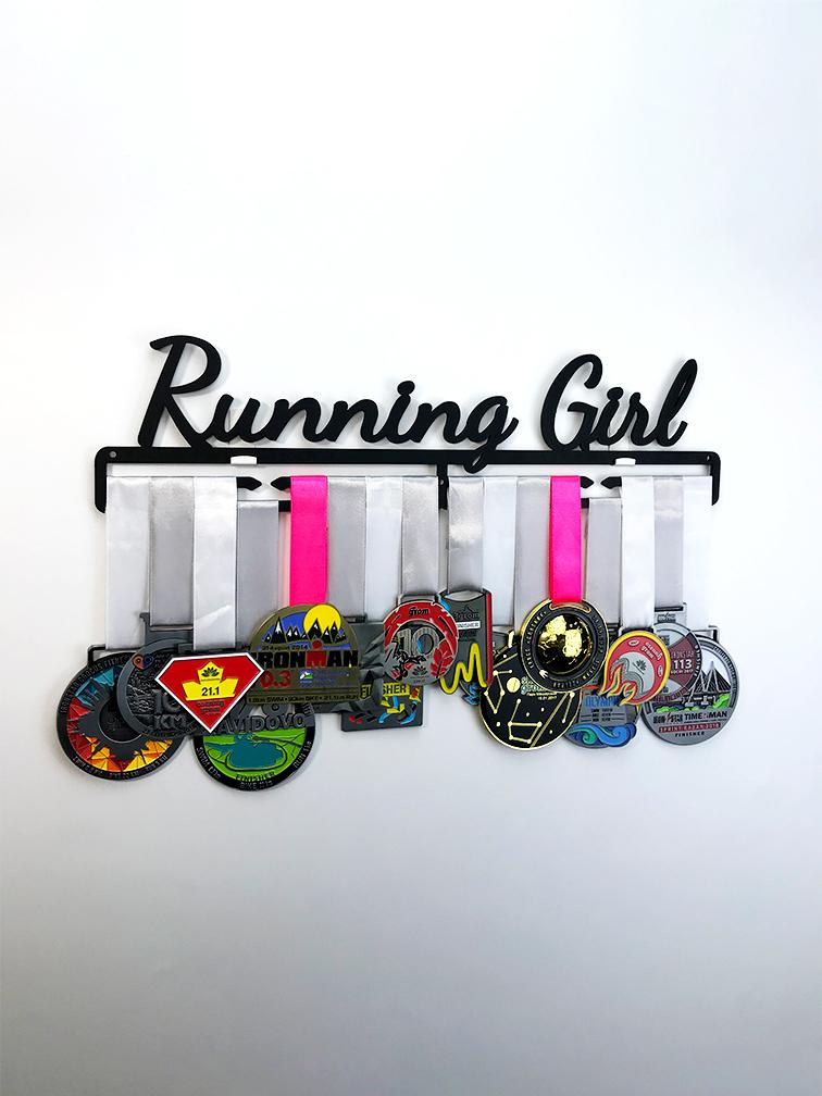 Медальница Running Girl (черный)